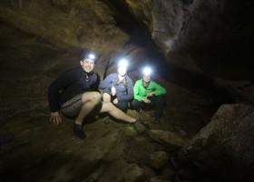 Exploring Clifden Caves