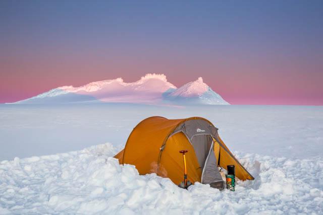 winter camping ruapehu