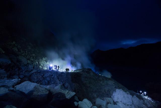 ijen volcanic crater