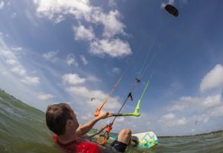 Learning to kite surf in Sri Lanka