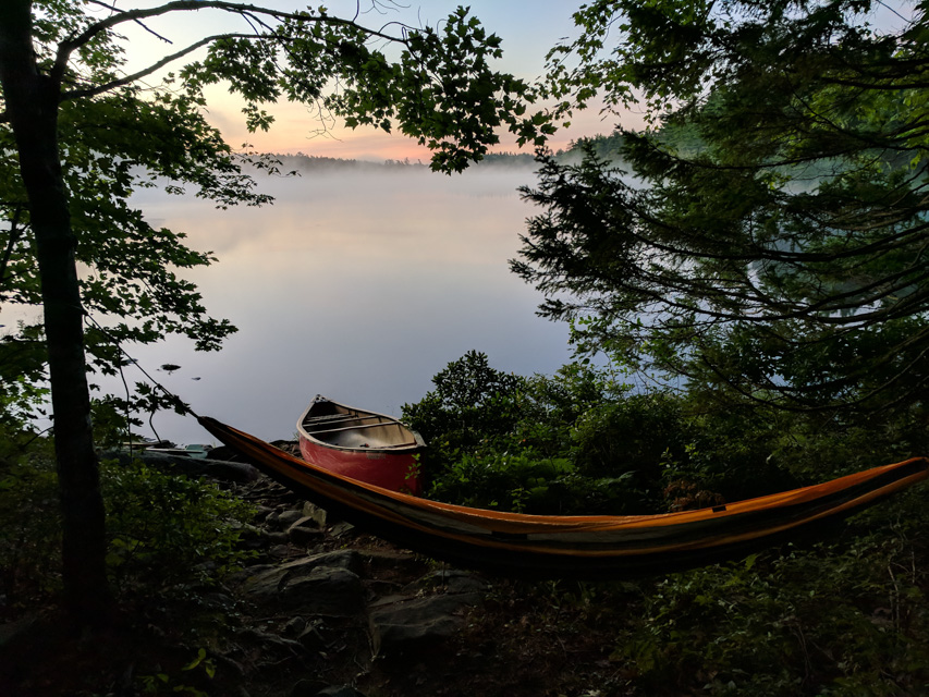 Canoe camping with an infant